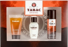 Tabac Original Travel Aftershave Lotion Showergel Deo Set