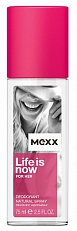 Mexx Life Is Now For Her Deodorant Spray 75ml